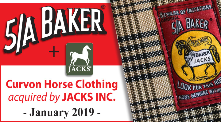 JACKS has acquired Curvon Horse Clothing