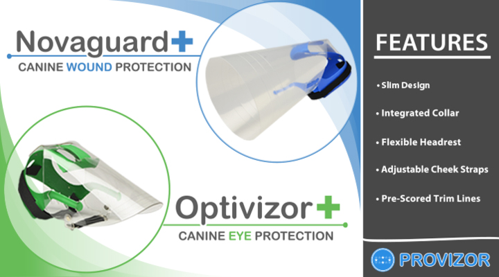 Novaguard and Optivizor - Wound and Eye Protection for Dogs