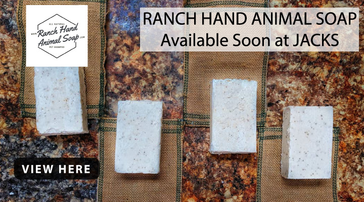Available Soon at JACKS - Ranch Hand Animal Soap