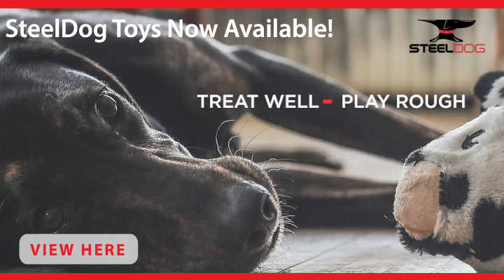 New at JMI Pet Supply - SteelDog Dog Toys