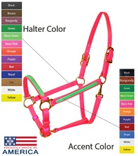 """Feather-Weight® Beta 3/4"""" Two-Tone Double Buckle Halter"""