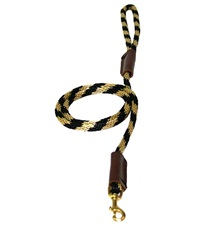 "Lone Wolf Solid (Round) 3/8"" Braided Rope Lead with Snap"