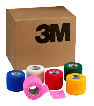 "3M™ Vetrap™ Bandaging Tape 2"" x 5 yds **ASSORTED** Colors (18/Box)"