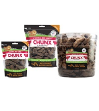 Pet 'n Shape Beef Lung CHUNX Peanut Butter All-Natural Dog Treats