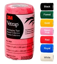 "3M™ VetRap™ Bandaging Tape 4""x 5 yards (100/cs)"