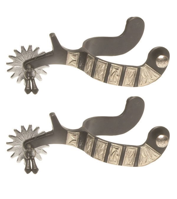 Black Steel Jingle Bob Show Spurs