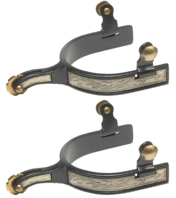 Black Steel Roping Spurs