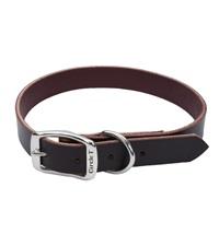 "Circle T® Latigo Leather Town Dog Collar Flat 3/4"""