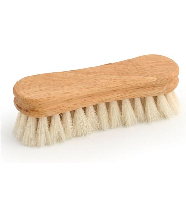 "Legends™ Soft White Goat Hair Peanut-Shaped Face Brush 4-1/2"""