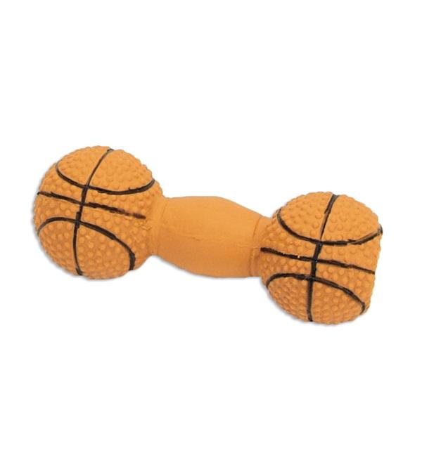 "Rascals® Latex Basketball Dumbbell 4"""