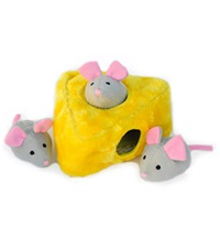 Zippy Burrow Mice 'n Cheese Plush Dog Toy