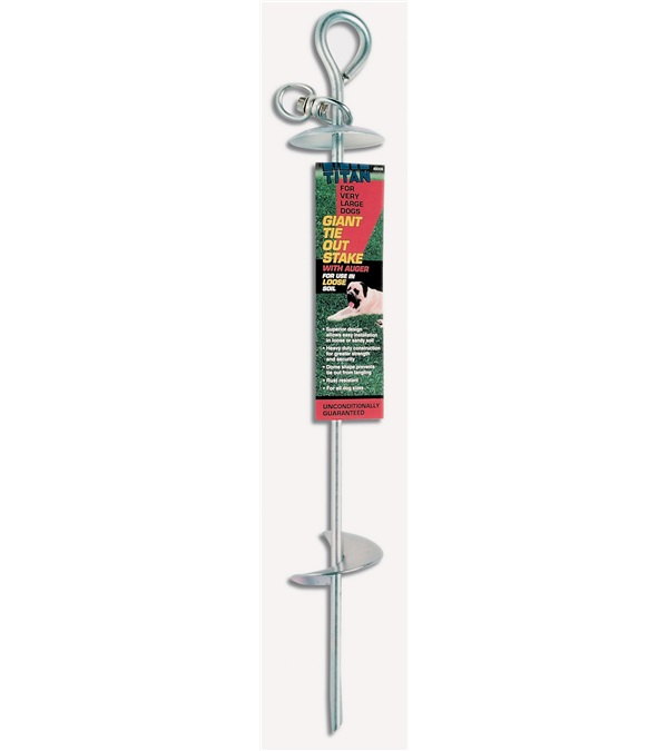 Titan® Giant Auger Dome Tie Out Stake