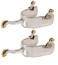 Stainless Steel Equitation Offset Spurs