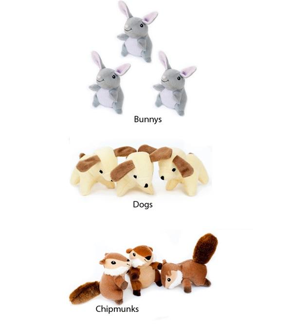 Zippy Burrow Refill Plush Dog Toy