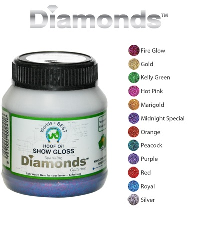 Worlds Best Hoof Oil Diamonds™ Show Gloss 4 oz.