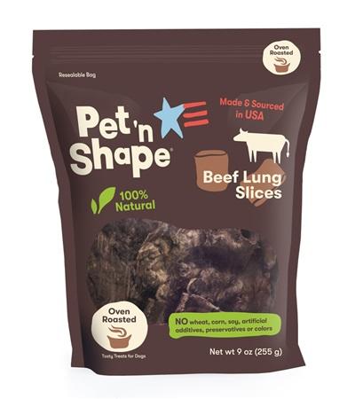 Pet 'n Shape® Beef Lung SLICES All-Natural Dog Treats 9 oz. Bag