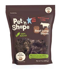 Pet 'n Shape® Beef Lung SLICES All-Natural Dog Treats 9 oz. Bag