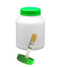Hoof Oil Jar with Brush