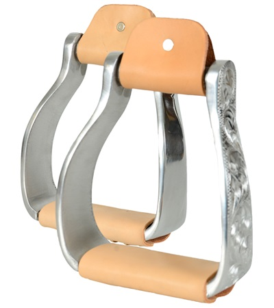 Western Engraved Stirrups