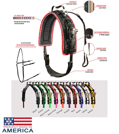 LITE-N-TUFF® All Weather Coated Nylon Race Harness by Feather-Weight®