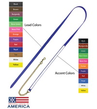 "Feather-Weight® Beta Two-Tone Lead Shank with 24"" Solid Brass Chain"