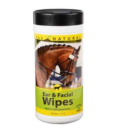 Care Free Enzymes Equine Ear and Facial Wipes