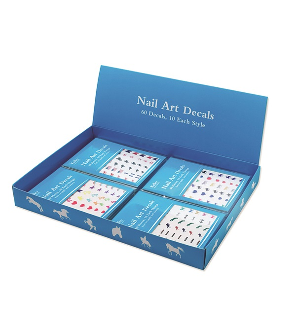 Horse Nail Art Decals Display Box with 24 Sheets