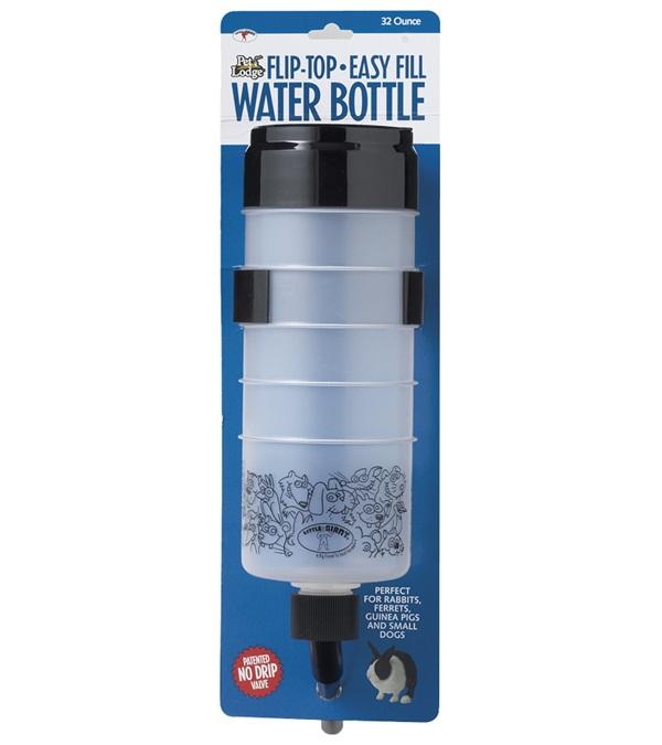 Pet Lodge™ Flip-Top-Easy Fill Water Bottle 32 oz.