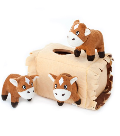 Zippy Burrow Horse 'n Hay Plush Dog Toy
