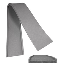 Gray Foam Girth Channel