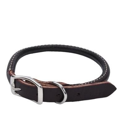 "Circle T® Latigo Leather Dog Collar Round 5/8"""
