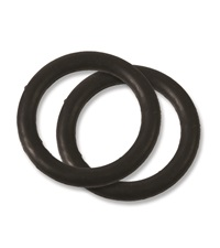 Black Rubber Replacement Bands for Peacock Safety Stirrups