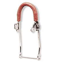 Chrome Plated Braided Leather Hackamore Bit