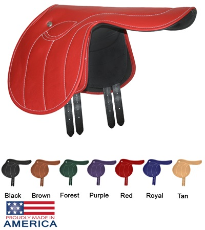 Feather-Weight® Leather Exercise Saddle