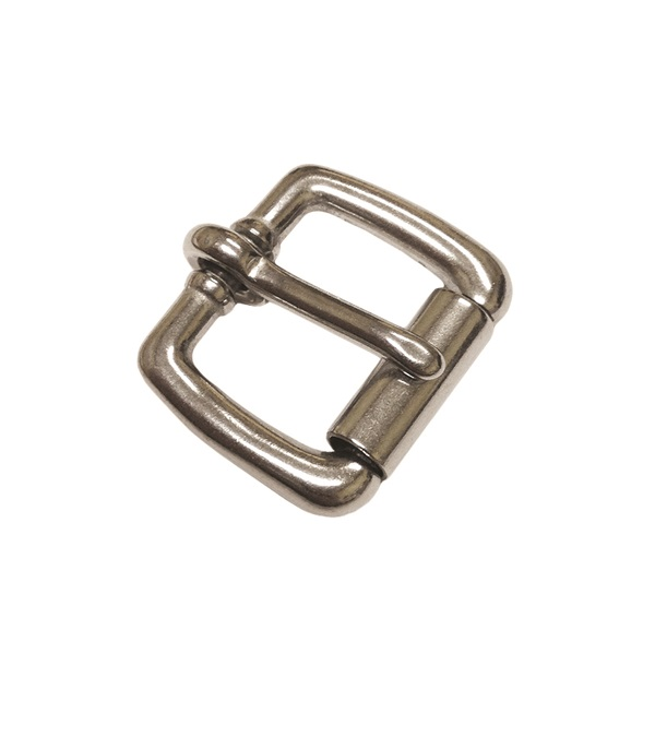 "Roller Buckle 3/4"" Brass/Chrome Plated"