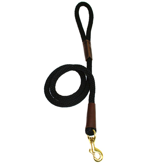 """Lone Wolf Solid (Round) 1/2"""" Braided Rope Lead with Snap"""