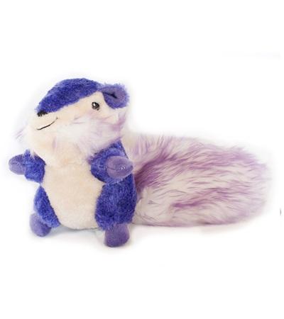 Zippy Paws Purple Chipmunk Plush Dog Toy