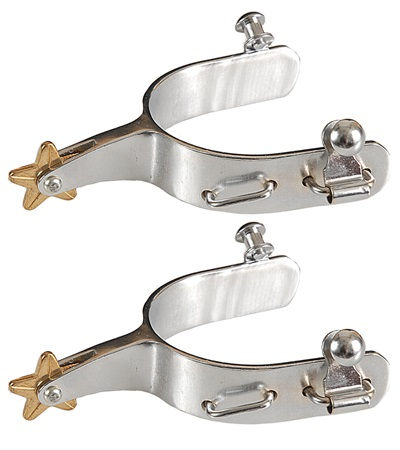Chrome Plated Bull Spurs