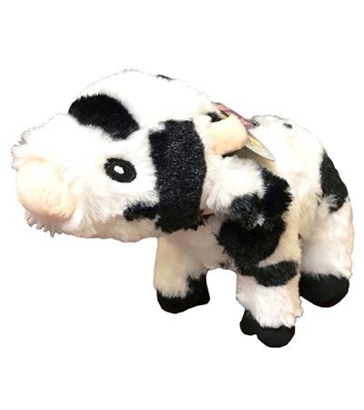 Steel Dog Barnyard Cow with Tennis Ball
