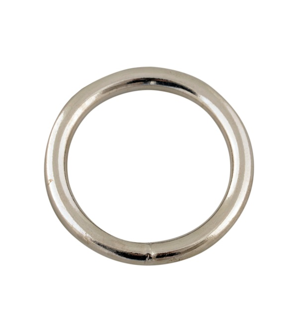 Steel Halter Ring Nickel Plated