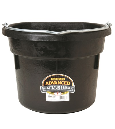 Duraflex Flat Back Water Bucket 12 Qt.