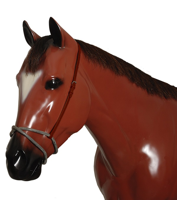 Leather Rubber Figure 8 Noseband