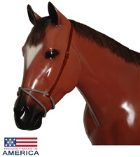 Leather Rubber Figure 8 Noseband