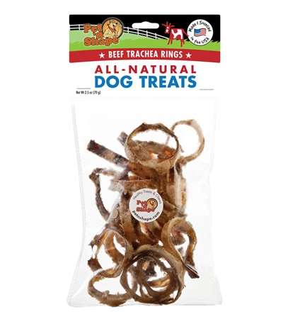 Pet 'n Shape® Beef Trachea Rings All-Natural Dog Treats 2.5 oz.