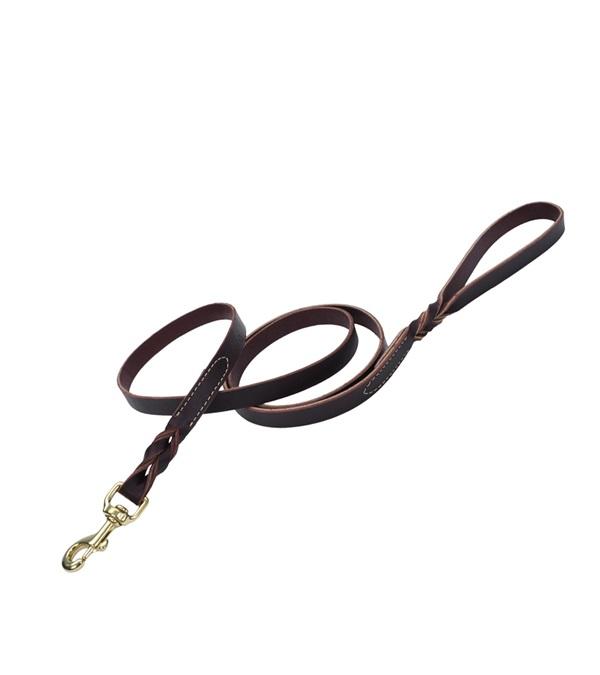"""Circle T® Latigo Leather Dog Leash Flat 1"""""""
