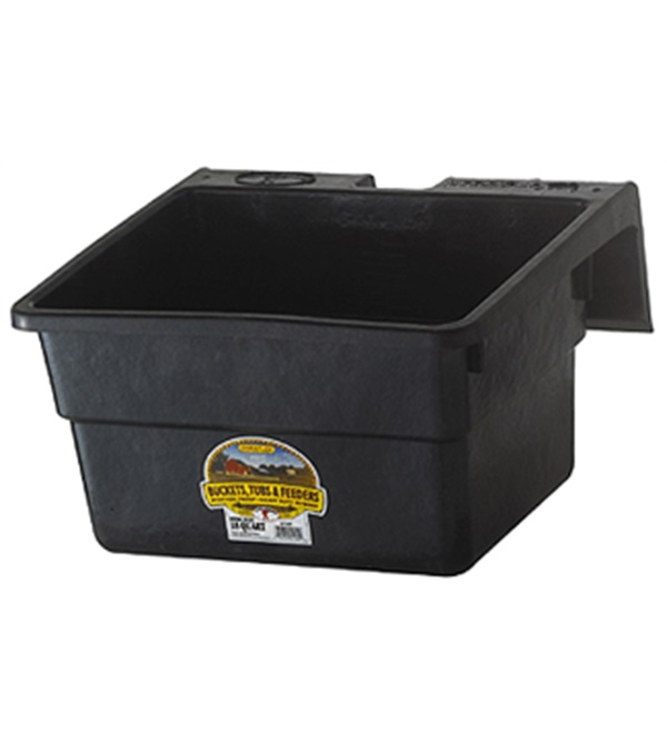 Large Rubber Horse Water Tubs: Fence Feeder Rubber 18 Qt.