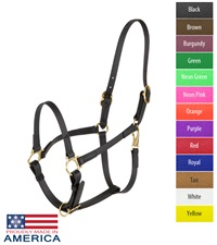 "Feather-Weight® Double Buckle 3/4"" Beta Halter (Adjustable Chin)"