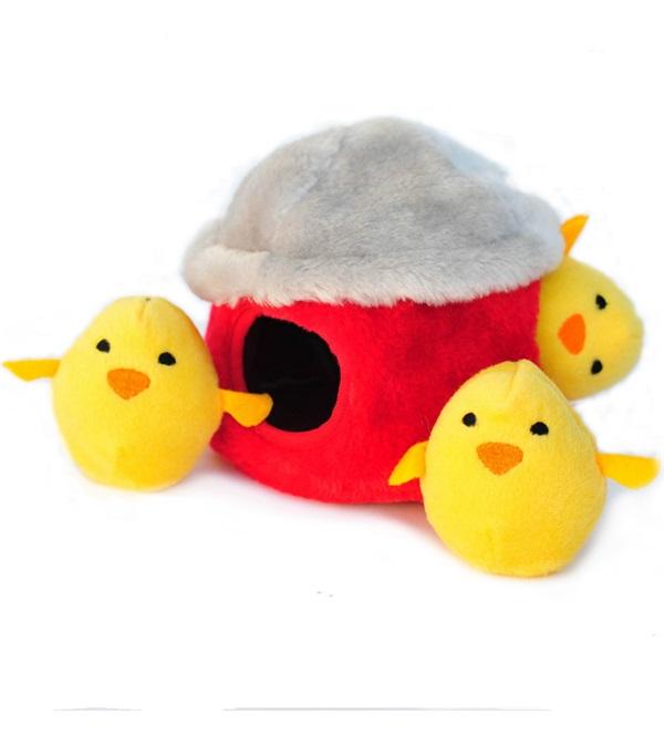 Zippy Burrow Chicken Hut Plush Dog Toy