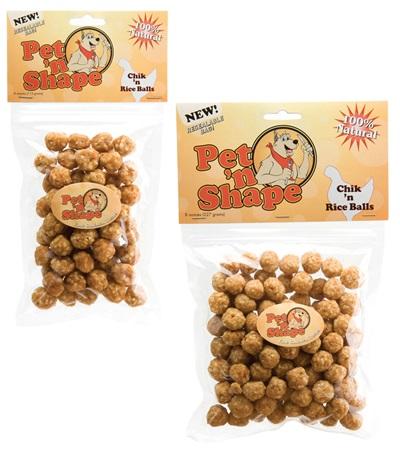 Pet 'n Shape® Chik 'n Rice Balls All-Natural Dog Treats