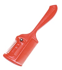 Thinning Comb Red 7""